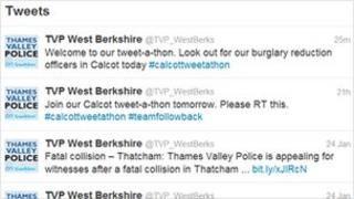 Screen shot of the start of the Calcot tweet-a-thon