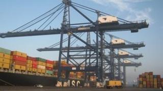 Port of Felixstowe cranes
