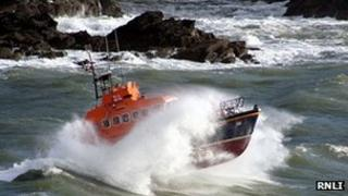 Fowey all weather lifeboat Maurice and Joy Hardy: Pic RNLI