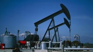 Oil pumps on Wytch Farm oil field