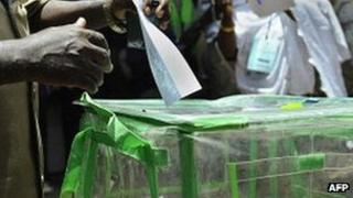 An election box in Nigeria - April 2011