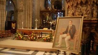 Painting of Basil D'Oliveira in Worcester Cathedral