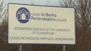 Pembrokeshire College sign