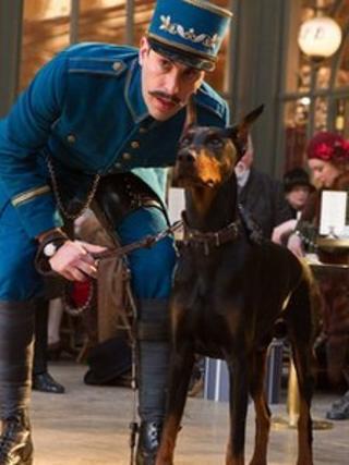 Sacha Baron Cohen with Blackie in Hugo