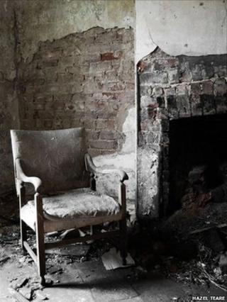 Abandoned building interior courtesy Hazel Walsh