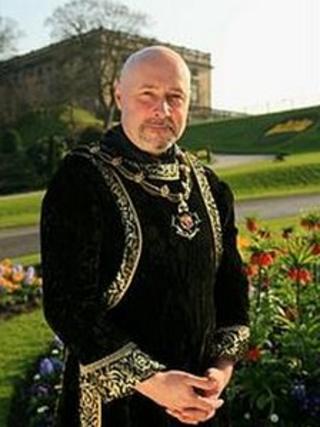 Councillor Leon Unczer, the Sheriff of Nottingham