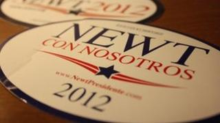 Publicity materials for Newt Gingrich in Spanish