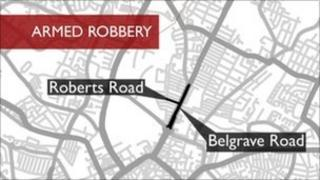 Map of area where robbery took place
