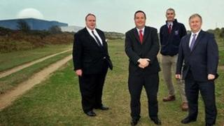 Richard Smith, Suffolk County Council; Jim Crawford, Sizewell B director; Andrew Nunn, Suffolk Coastal District Council and Nick Collinson, Suffolk Coast and Heaths AONB manager