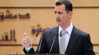 Syrian leader Bashar al-Assad (10 Jan 2012)