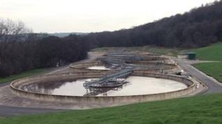 Sewage works at Esholt, Bradford