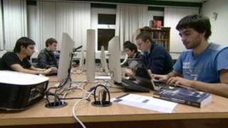 Students at Coventry University's Ethical Hacking Lab