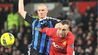 Manchester United v Stoke in the Premier League