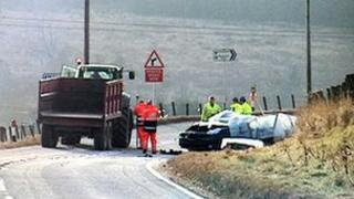 A95 crash scene