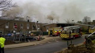 Fire at University of York. Picture Tom Herbert