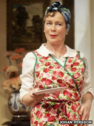 Celia Imrie as Dotty Otley in Noises Off