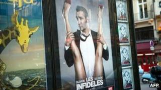 Promotional posters for Les Infideles (The Players) featuring Jean Dujardin