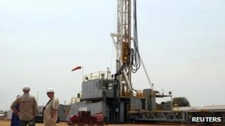 Oil exploration North-West of the Ugandan capital, Kampala