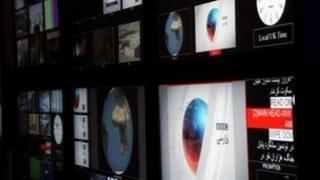 BBC Persian service studio (file)