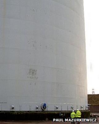 Partington gas tower