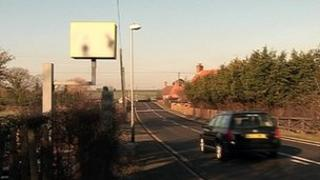Fake speed camera in Ompton