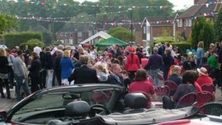 Street party in Armorial Road, Coventry