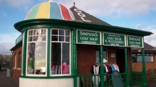 Simpsons golf shop