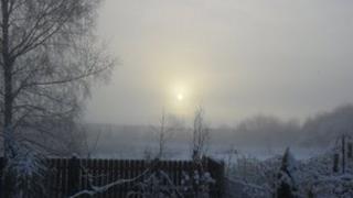 Snow at Church Fenton, North Yorkshire