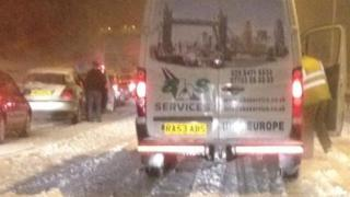 Stranded drivers on the M40