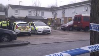 Site of gas leak explosion in Abbey Road, Basingstoke