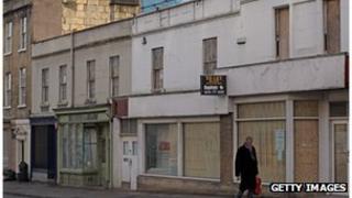 Empty shops