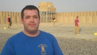 Cpl Ewan Harper in Afghanistan