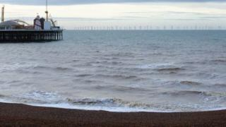 Computer image of windfarm off Brighton