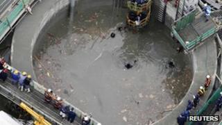 Scene of Japan tunnel collapse