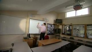 trainee teacher in class