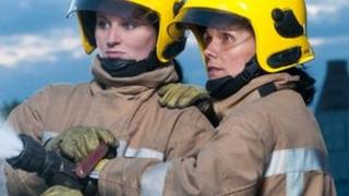 Firefighters Gemmanesse Plant and Ursula Robateu-Martin (Staffordshire Fire and Rescue Service)