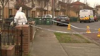 The scene of the shooting in Tallaght