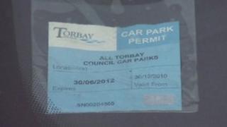 Torbay car park permit