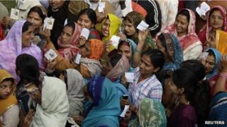 Voters in Uttar Pradesh