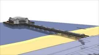Artist's impression of the new pier