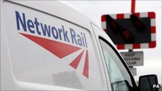 Network Rail van at level crossing