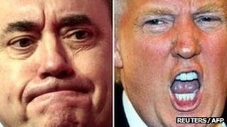Alex Salmond [Pic: Reuters] and Donald Trump [Pic: AFP]