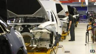 Rolls Royce cars production line