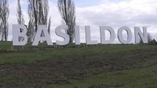Basildon town sign