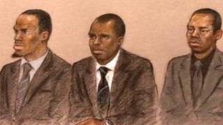 From left: Nathaniel Grant, Kazeem Kolawole and Anthony McCalla