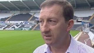 Swansea City chairman Huw Jenkins at the Liberty Stadium