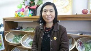 Her children evacuated to Yamagata