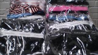 Counterfeit designer underwear