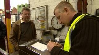 Registering at the scrap metal dealer