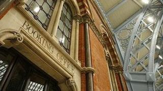 Inside St Pancras International station